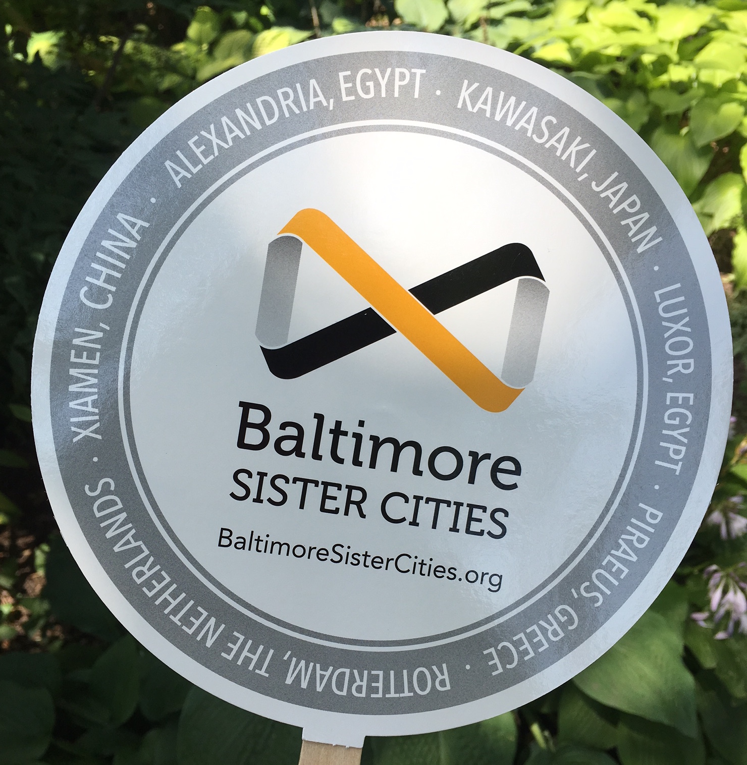 Baltimore Sister Cities paper fan for Artscape 2017