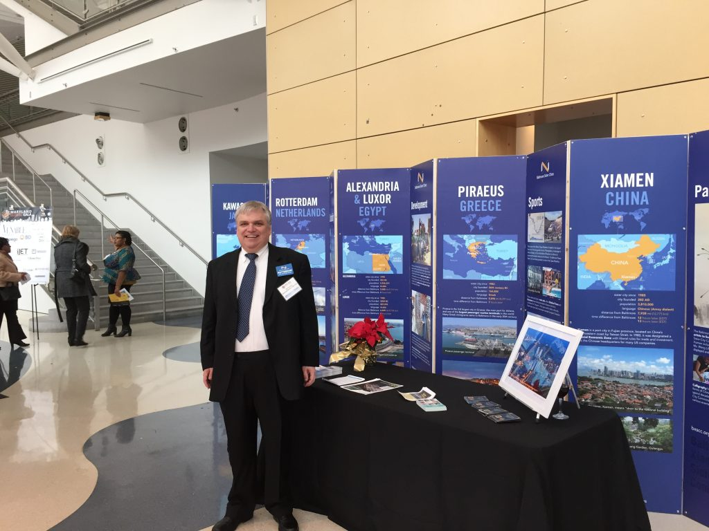 Baltimore Sister Cities display at WTCI Global Gala