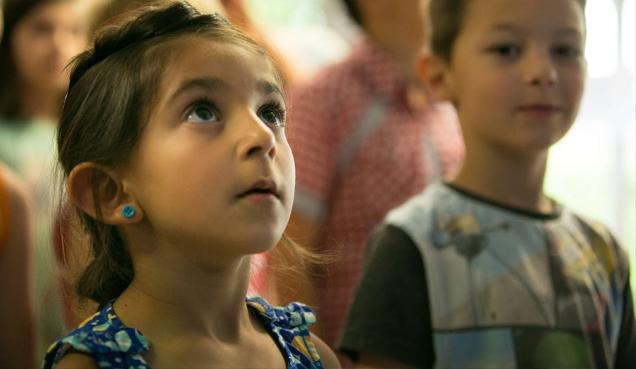 Students in Miss Kiet's class (Film)