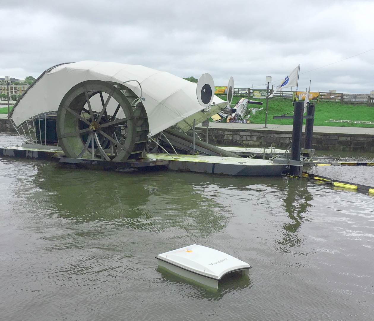 Rotterdam's WasteSharks meets Baltimore's Mr. Trash Wheel at GreenPort Congress in Baltimore 2018-05-18