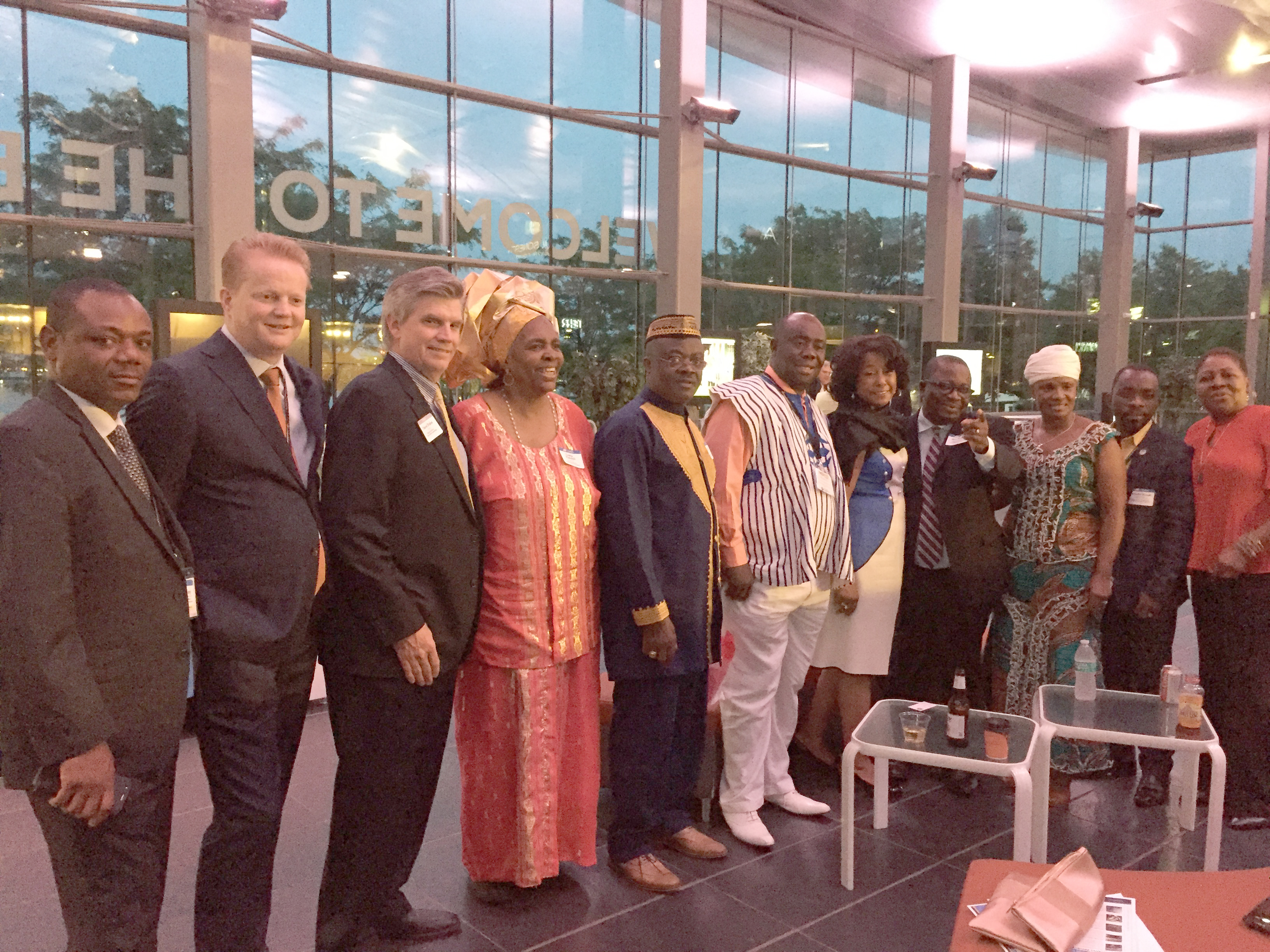 International Sister Port Reception 2018-05-17: Liberia delegation, Alan Dirks from Port of Rotterdam, and others