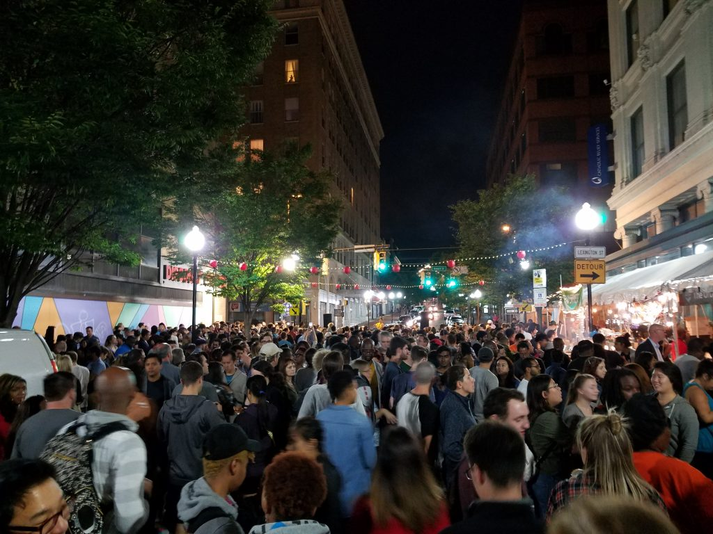 Photo of Charm City Night Market (1st annual edition of the festival). Photo by Fontaine Bell