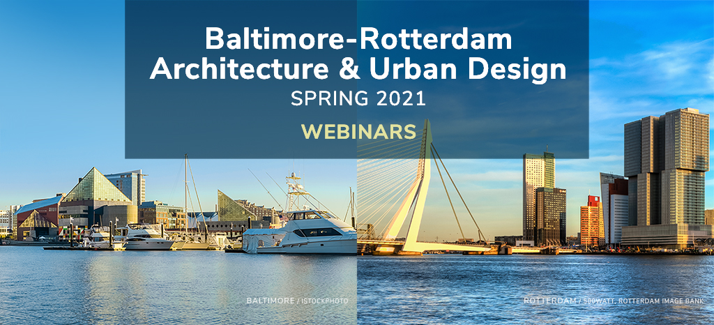 Baltimore and Rotterdam waterfronts