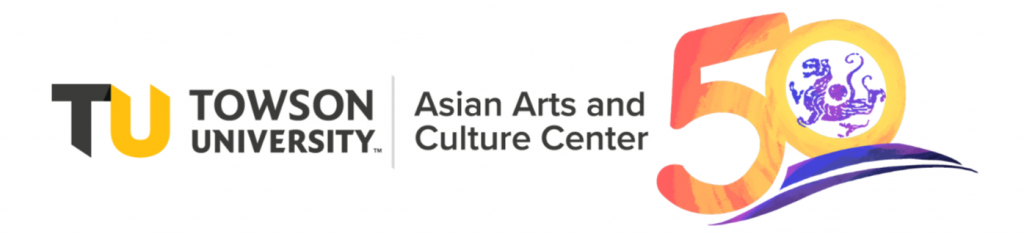 Towson University Asian Arts and Culture Center logo - 50th year anniversary